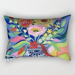 Late Summer Blooms Rectangular Pillow