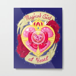 Magical Girl At Heart Metal Print