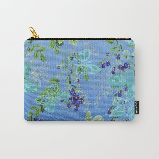 blueberries and butterflies Carry-All Pouch