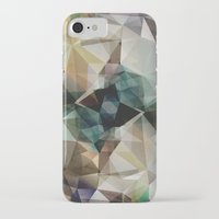garfield iPhone & iPod Cases featuring Abstract Grunge Triangles by Phil Perkins