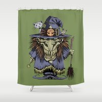 witch Shower Curtains featuring Witch by Kape