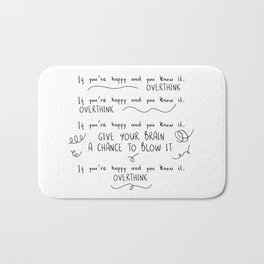 If You're Happy And You Know It, Overthink Bath Mat