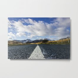 Road To Snowdon Metal Print