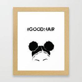 #GOODHAIR - Puffs Framed Art Print
