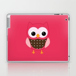 Pink owl Laptop & iPad Skin