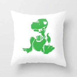 I Have a Drinking Problem Dinosaurs Dino Alcohol Beer Design Throw Pillow