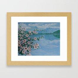 Blooming tree Framed Art Print