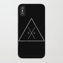 The Society Six (White Graphic) iPhone Case