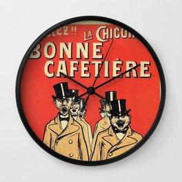 Chicorée Bonne Cafetière Wall Clock