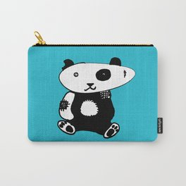 Patchwork Panda Bear Carry-All Pouch
