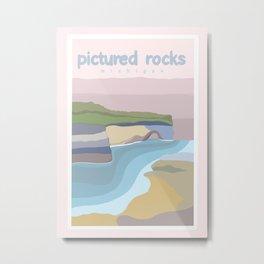 Pictured Rocks Michigan  Metal Print