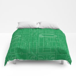 Sport Courts Pattern Art Comforters