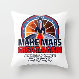 US Space Force New Military Branch Rocket to Mars Light Throw Pillow