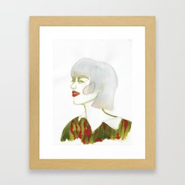 Mel with tip-dye hair Framed Art Print