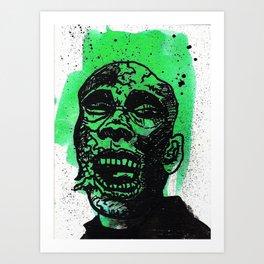 Green Zombie Art Print