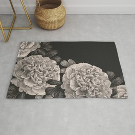 Flowers on a winter night Rug