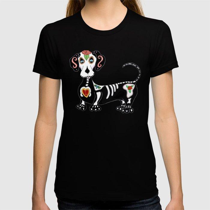 Dachshund Sugar Skull T-shirt