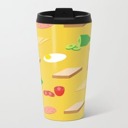 Breakfast Pattern Travel Mug