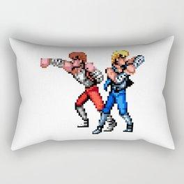 Double Dragon Brothers Rectangular Pillow