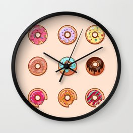Sweet Donuts pattern Wall Clock