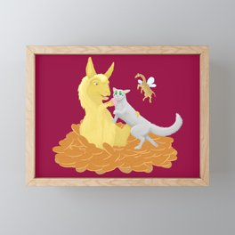 Pancake Llama Framed Mini Art Print