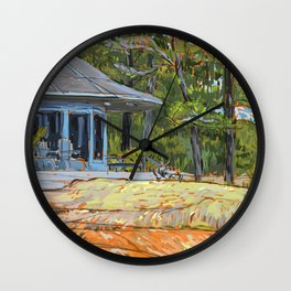 Cottage on the Rocks Wall Clock