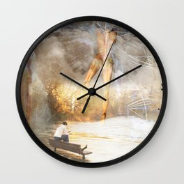 The Sacred and the Mundane Wall Clock