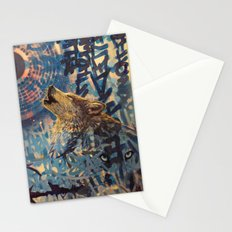 THE WOLF HOWLED AT THE STAR FILLED NIGHT Stationery Cards