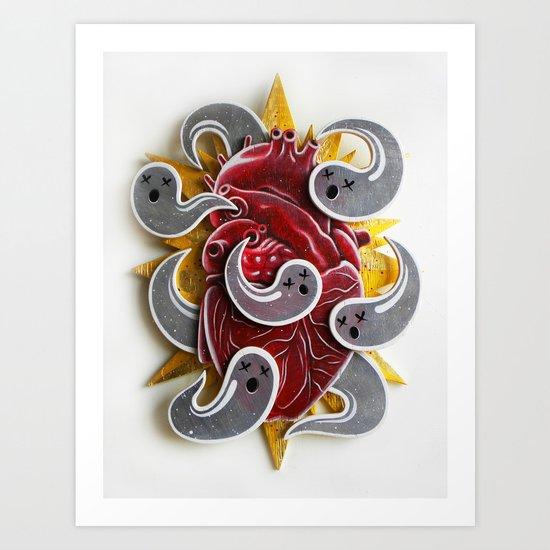 """HAUNTED HEART"" Art Print"