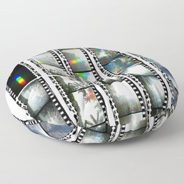 Film Strips From Outer Space Floor Pillow