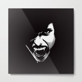 Scary Female Vampire Metal Print