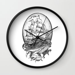 GUIDED BY WHALES Wall Clock