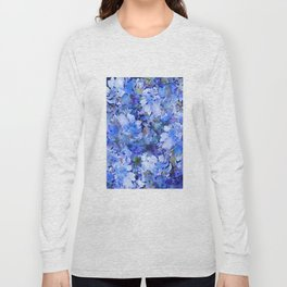 Wild Blue Rose Garden Long Sleeve T-shirt