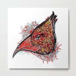 Bird Head Metal Print