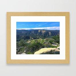 San Jacinto High Framed Art Print