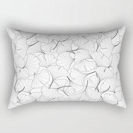 ginkgo leaves (white) Rectangular Pillow