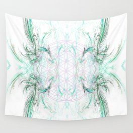 smoke on the flower of life Wall Tapestry