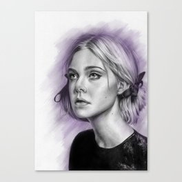 Elle Fanning Drawing - Spatter Series Canvas Print