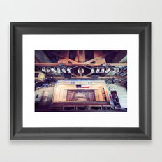 Gruene Hall stage (interior) - Oldest Dance Hall in Texas (Color) Framed Art Print