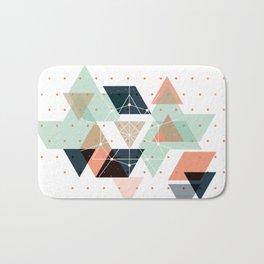 Midcentury geometric abstract nr 011 Bath Mat
