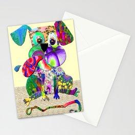 Fractimal Dog - Happy Puppy Dog Stationery Cards