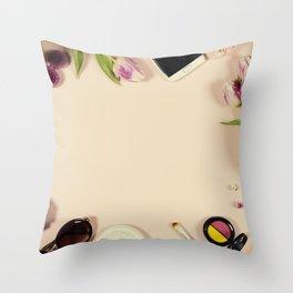Creative beauty feminine arrangement Throw Pillow