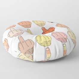 Multicultural Middle Fingers Floor Pillow