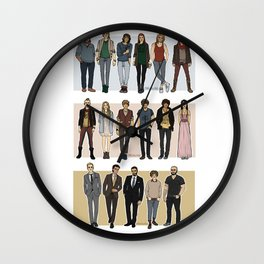 Character Line Up Wall Clock