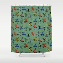 Digital Dart Frogs Shower Curtain