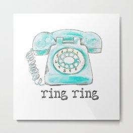 Vintage phone ring ring Metal Print