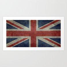 England's Union Jack flag of the United Kingdom - Vintage 1:2 scale version Art Print