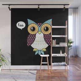 Fancy owl Wall Mural