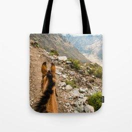 Horseback   Nature Landscape Mountain Photography During Hike in Peru Tote Bag