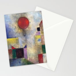 Paul Klee Red Balloon 1922 Artwork for Tshirts Posters Prints Men Women and Kids Stationery Cards